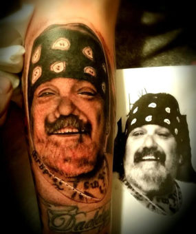 Portrait tattooed by Chad